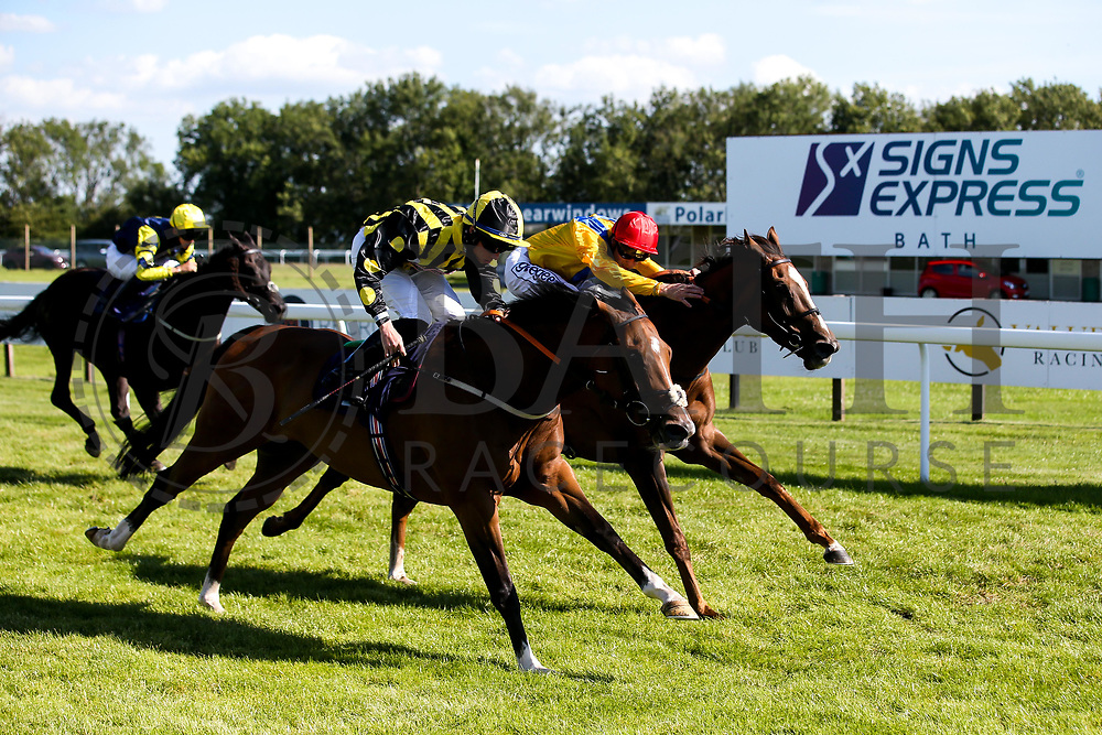 Derry Boy ridden by Rossa Ryan trained by David Evans wins the Visit Valuerater.co.uk Handicap ahead of Quemonda ridden by David Probert trained by Paul & Oliver Cole- Mandatory by-line: Robbie Stephenson/JMP - 22/07/2020 - HORSE RACING - Bath Racecoure - Bath, England - Bath Races