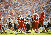 COLLEGE FOOTBALL:  Stanford vs Cal in the Big Game on Novermber 20, 1993 at Stanford Stadium in Palo Alto, California.  Pete Swanson #97, David Walker #23.  Photograph by David Madison | WWW.DAVIDMADISON.COM