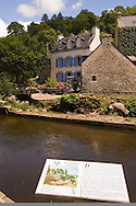 Information sign about the moulin Ty Meur depicted in Gauguins les Lavandieres a Pont Aven