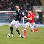 Dundee's James McPake and Ross County's Filip Kiss - Dundee v Ross County, SPFL Premiership at Dens Park<br /> <br />  - &copy; David Young - www.davidyoungphoto.co.uk - email: davidyoungphoto@gmail.com