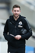 Paul Dummett (#3) of Newcastle United arrives ahead of the Premier League match between Newcastle United and Swansea City at St. James's Park, Newcastle, England on 13 January 2018. Photo by Craig Doyle.