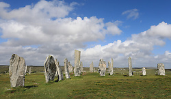 Located on the west coast of Lewis the 5000 year old Callanish Stones are an arrangement of standing stones placed in a cruciform pattern with a central stone circle. They were erected in the late Neolithic era, and were a focus for ritual activity during the Bronze Age........ (c) Stephen Lawson | Edinburgh Elite media