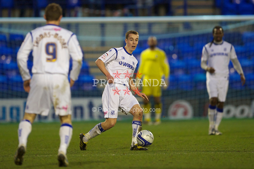 BIRKENHEAD, ENGLAND - Saturday, January 8, 2011: Tranmere Rovers' Michael Kay in action against Walsall during the Football League One match at Prenton Park. (Pic by: David Rawcliffe/Propaganda)