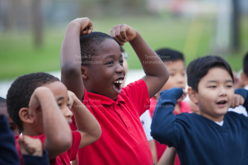 Playworks<br /> <br /> <br /> Cummings Elementary School<br /> 10455 S Kirkwood Rd, Houston, TX 77099<br /> <br /> <br /> Teacher is Ms. Irby, 2nd grade  class game time<br /> <br /> Only one student released for RWJF<br /> <br /> IMG_1164.JPG