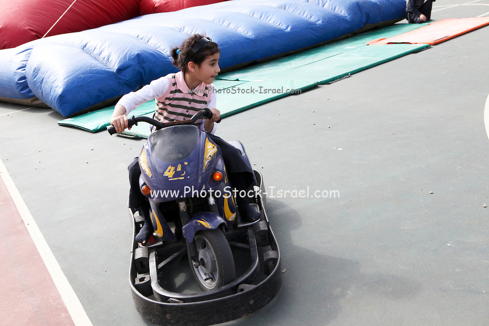 Child on a Bumper car