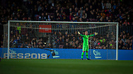 Ter Stegen ,goalkeeper of FC Barcelona during the Spanish league football match of 'La Liga'  FC BARCELONA against RAYO VALLECANO at Camp Nou Stadium of Barcelona on March 9,2019