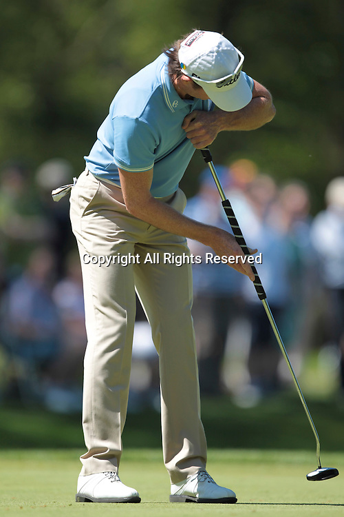 26.05.2012 Wentworth, England. Brett Rumford (AUS) in action during the BMW PGA Championship. Saturday, day 3 of competition.