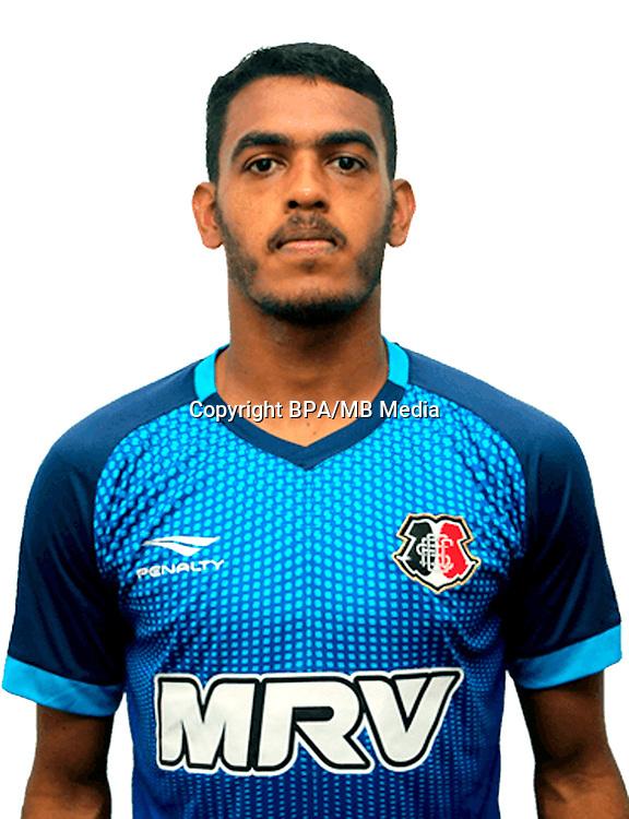 Brazilian Football League Serie B 2017 / <br /> ( Santa Cruz Futebol Clube ) - <br /> Luiz Miller dos Santos Silva
