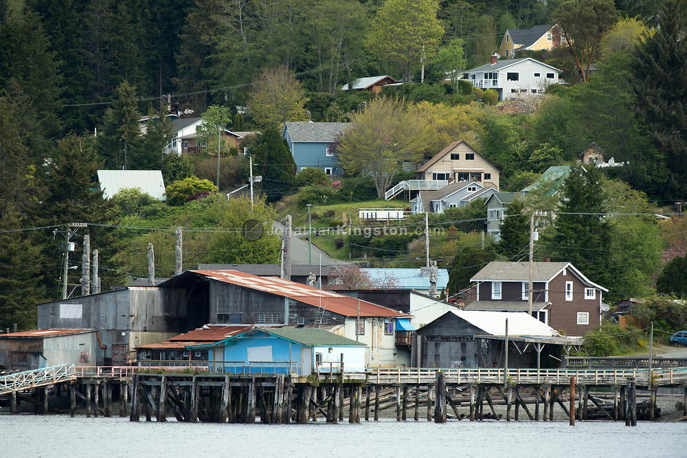 View of Alert Bay – a town on the Inside Passage of British Columbia.