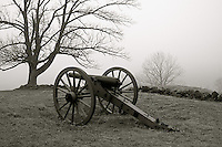 Displayed Canon at the Gettysburg National Military Park Pennsylvania.