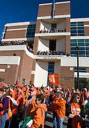 November 21, 2009; Clemson, SC, USA;  Clemson Tigers fans line up for the tiger walk before the game against the Virginia Cavaliers  at Memorial Stadium.  Clemson defeated Virginia 34-21.