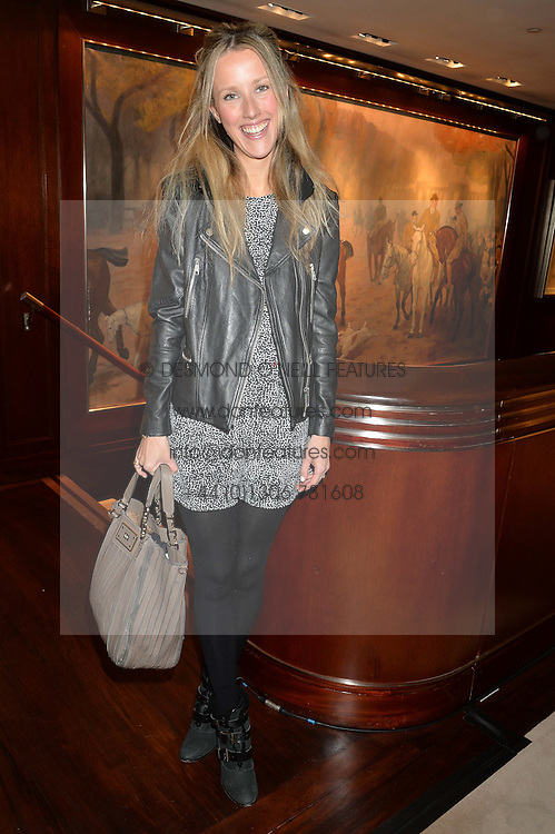 KATE FREUD at a party to celebrate the publication of Front Roe by Louise Roe held at Ralph Lauren, 1 New Bond Street, London on 1st April 2015.