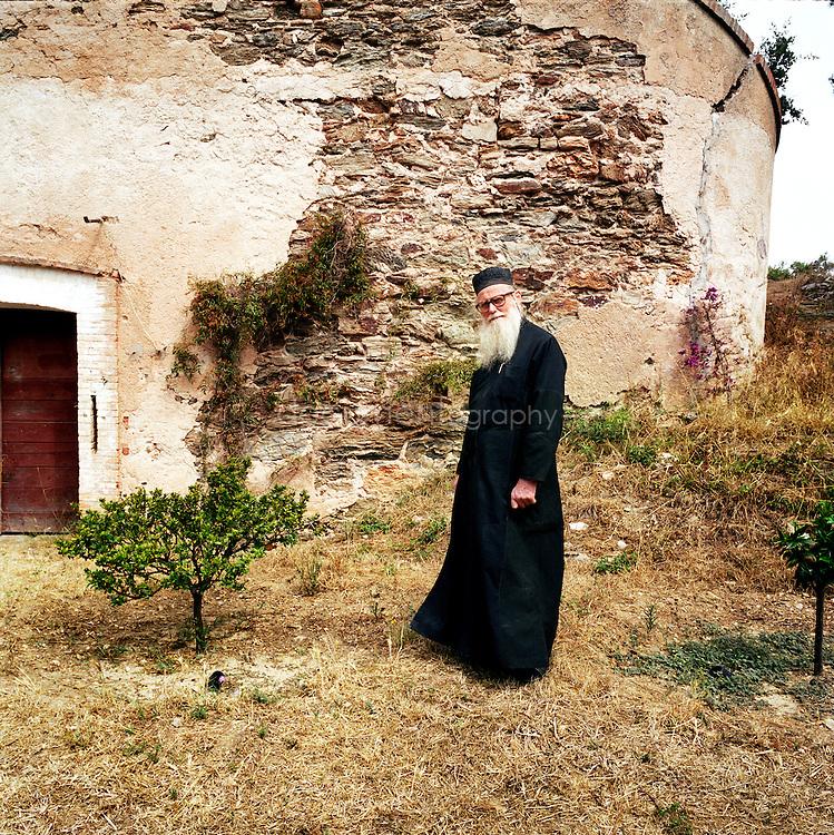 Le frère Sérafin, moine a Porquerolles depuis 11 ans