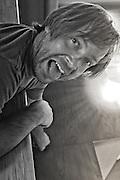 06 October 2011-Doug Kiser working at Energy Smart home on Pine St in Omaha Nebraska.