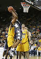 24 JANUARY 2007: Penn State forward Jamelle Cornley (2) goes for a layup in Iowa's 79-63 win over Penn State at Carver-Hawkeye Arena in Iowa City, Iowa on January 24, 2007.