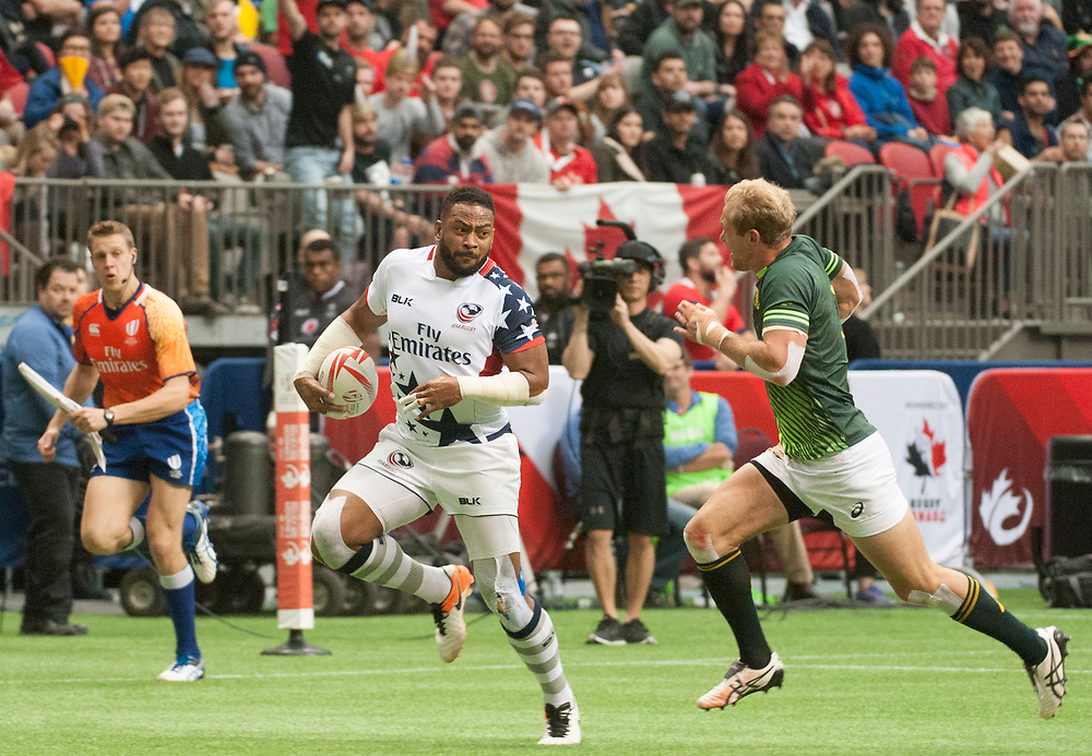 Martin Iosfeo scores a try during the same final against South Africa during the knockout stages of the Canada Sevens,  Round Six of the World Rugby HSBC Sevens Series in Vancouver, British Columbia, Sunday March 12, 2017. <br /> <br /> Jack Megaw.<br /> <br /> www.jackmegaw.com<br /> <br /> jack@jackmegaw.com<br /> @jackmegawphoto<br /> [US] +1 610.764.3094<br /> [UK] +44 07481 764811