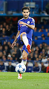 Cesc Fàbregas plays a ball to the wing during the Champions League match between Chelsea and Maccabi Tel Aviv at Stamford Bridge, London, England on 16 September 2015. Photo by Andy Walter.