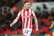 Stoke City defender James Chester in action during the EFL Sky Bet Championship match between Stoke City and Preston North End at the Bet365 Stadium, Stoke-on-Trent, England on 12 February 2020.