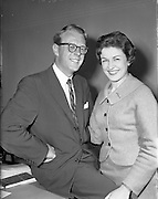 28/05/1959<br /> 05/28/1959<br /> 28 May 1959<br /> Irish Shell staff engagement. Mr C. McGaley engaged to C. Fitzpatrick both of Irish Shell.