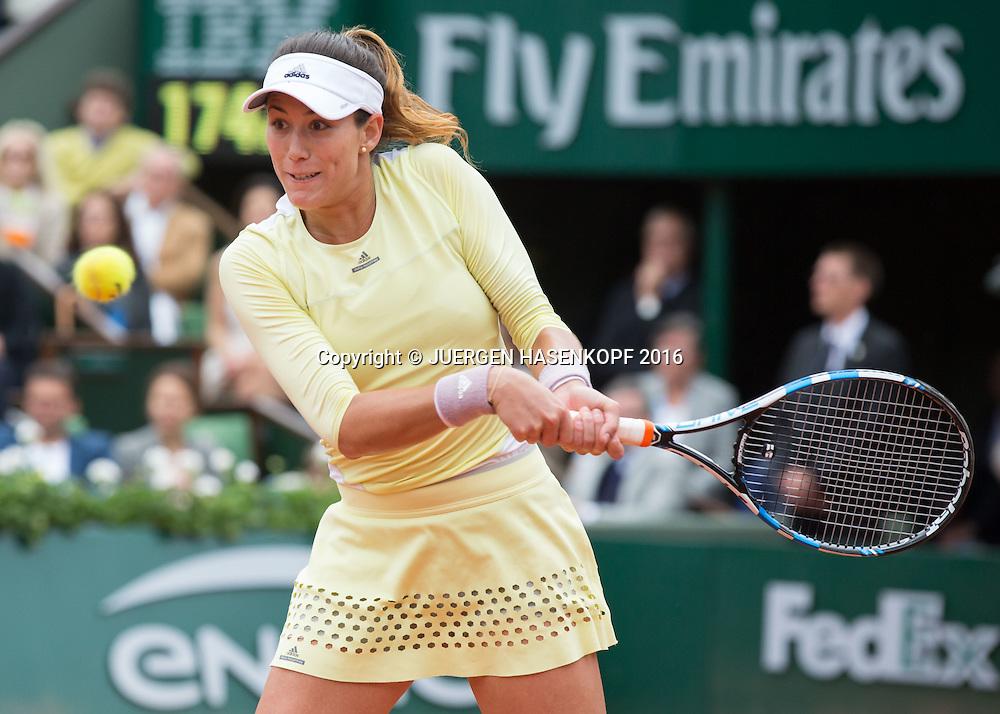 Garbine Muguruza (ESP)<br /> <br /> Tennis - French Open 2016 - Grand Slam ITF / ATP / WTA -  Roland Garros - Paris -  - France  - 4 June 2016.