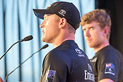 Americas's Cup Village, Bermuda 12th June 2017. Emirates Team New Zealand skipper Glenn Ashby and Helmsman Peter Burling at the press conference after winning the Louis Vuitton America's Cup Challenger series.