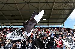 Brive fans celebrate at half time. Stade Toulousain v Brive, 24eme Journee, Top 14. Stade Ernest Wallon, Toulouse, France, 21 Avril 2012.