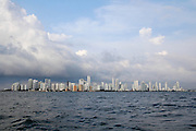 Cartagena, Colombia skyline as seen from the sea
