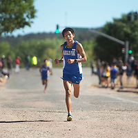 Navajo Pine High School senior Galvin Curley takes first place with a time of 18:23 in the varsity boys 5000 meter run Saturday morning at the Heartbreak Classic cross county meet in Navajo.