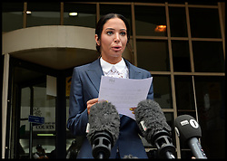 Image ©Licensed to i-Images Picture Agency. 25/07/2014. London, United Kingdom. Tulisa Contostavlos leaves  Stratford Magistrates' Court after being found guilty in her  assault trial. . Picture by Andrew Parsons / i-Images