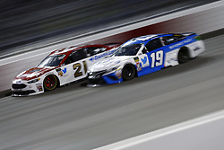 September 22, 2018 - Richmond, Virginia, United States of America - Daniel Suarez (19) battles for position during the Federated Auto Parts 400 at Richmond Raceway in Richmond, Virginia. (Credit Image: © Chris Owens Asp Inc/ASP via ZUMA Wire)