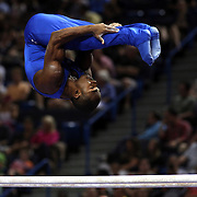 John Orozco, Colorado Springs, Colorado, in action on the Parallel bars during the Senior Men Competition at The 2013 P&G Gymnastics Championships, USA Gymnastics' National Championships at the XL, Centre, Hartford, Connecticut, USA. 16th August 2013. Photo Tim Clayton