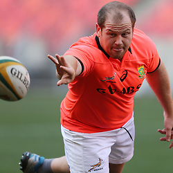 PORT ELIZABETH, SOUTH AFRICA - JUNE 25: Lourens Adriaanse during the South African National rugby team training session at Nelson Mandela Bay Stadium on June 25, 2014 in Port Elizabeth, South Africa. (Photo by Steve Haag/Gallo Images)
