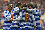 Reading players congratulate Reading's Lucas Piazon for his goal during the Sky Bet Championship match between Reading and Bolton Wanderers at the Madejski Stadium, Reading, England on 21 November 2015. Photo by Mark Davies.