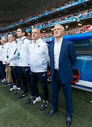 19.06.2016, Stade Pierre Mauroy, Lille, FRA, UEFA Euro, Frankreich, Schweiz vs Frankreich, Gruppe A, im Bild Coach Didier Deschamps (FRA) // Coach Didier Deschamps (FRA) during Group A match between Switzerland and France of the UEFA EURO 2016 France at the Stade Pierre Mauroy in Lille, France on 2016/06/19. EXPA Pictures © 2016, PhotoCredit: EXPA/ JFK