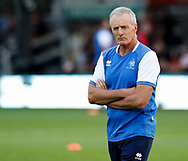 Benetton Treviso's Head Coach Kieran Crowley during the pre match warm up<br /> <br /> Photographer Simon King/Replay Images<br /> <br /> Guinness PRO14 Round 1 - Dragons v Benetton Treviso - Saturday 1st September 2018 - Rodney Parade - Newport<br /> <br /> World Copyright &copy; Replay Images . All rights reserved. info@replayimages.co.uk - http://replayimages.co.uk