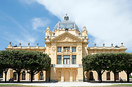 The Art Pavillion (Umjetnički paviljon), originally built as the Croatian Pavilion for the 1896 Budapest Millennial Exhibition and subsequently transported back to Zagreb, where it opened in 1898 as the city's first dedicated art exhibition space. Zagreb, Croatia © Rudolf Abraham