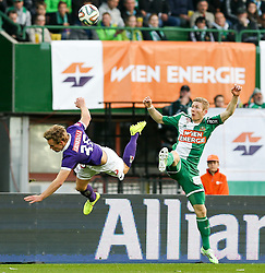 09.11.2014, Ernst Happel Stadion, Wien, AUT, 1. FBL, SK Rapid Wien vs FK Austria Wien, 15. Runde, im Bild Thomas Salamon (FK Austria Wien) und Robert Beric (SK Rapid Wien) // during a Austrian Football Bundesliga Match, 15th Round, between SK Rapid Vienna and FK Austria Vienna at the Ernst Happel Stadion, Wien, Austria on 2014/11/09. EXPA Pictures © 2014, PhotoCredit: EXPA/ Alexander Forst