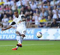 "Swansea City's Wayne Routledge opens the scoring for the swans  - Photo mandatory by-line: Joe Meredith/JMP - Tel: Mobile: 07966 386802 22/08/2013 - SPORT - FOOTBALL - Liberty Stadium - Swansea -  Swansea City V Petrolul Ploiesti - Europa League Play-Off EDITORIAL USE ONLY. No use with unauthorised audio, video, data, fixture lists, club/league logos or ""live"" services. Online in-match use limited to 45 images, no video emulation. No use in betting, games or single club/league/player publications"
