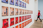 Strip 1990-2000 by Jemima Stehli - Tate Modern's new photography show, Performing for the Camera. The exhibition examines the relationship between photography and performance, from the invention of photography in the 19th century to the selfie culture of today, bringing together over 500 images spanning 150 years. Highlights include: artist Romain Mader and his series Ekaterina, which follows Romain's fictitious search for a bride in Eastern Europe; Amalia Ulman's social media sensation Excellences and Perfections performed over a four month period on Instagram; and a wall of artist-designed advertising posters by the likes of Jeff Koons, Andy Warhol and Joseph Beuys. Performing for the Camera is at Tate Modern from 18 February – 12 June 2016.