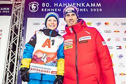25.01.2020, Streif, Kitzbühel, AUT, FIS Weltcup Ski Alpin, Slalom, Herren, Startnummernauslosung, im Bild Ramon Zenhaeusern (SUI) // Ramon Zenhaeusern of Switzerland during the draw of starting numbers for the men's Slalom of FIS Ski Alpine World Cup at the Streif in Kitzbühel, Austria on 2020/01/25. EXPA Pictures © 2020, PhotoCredit: EXPA/ Johann Groder