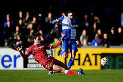 Liam Sercombe of Bristol Rovers is challenged by Billy Bingham of Bromley - Mandatory by-line: Ryan Hiscott/JMP - 10/11/2019 - FOOTBALL - Memorial Stadium - Bristol, England - Bristol Rovers v Bromley - Emirates FA Cup first round