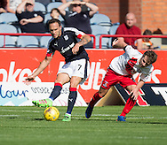 Dundee&rsquo;s Tom Hateley and Kilmarnock&rsquo;s Dean Hawkshaw - Dundee v Kilmarnock in the Ladbrokes Scottish Premiership at Dens Park, Dundee. Photo: David Young<br /> <br />  - &copy; David Young - www.davidyoungphoto.co.uk - email: davidyoungphoto@gmail.com