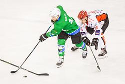 Selan Maks of HK SZ Olimpija during Hockey match between SZ HD Olimpija and HDD Jesenice in 4tht match of Quarterfinals of Alps Hockey League, on March 13, 2018 in Hala Tivoli, Ljubljana, Slovenia. Photo by Ziga Zupan / Sportida