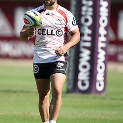 DURBAN, SOUTH AFRICA - Cobus Reinach during the Cell C Sharks training session at Growthpoint Kings Par in Durban, South Africa. (Photo by Steve Haag)