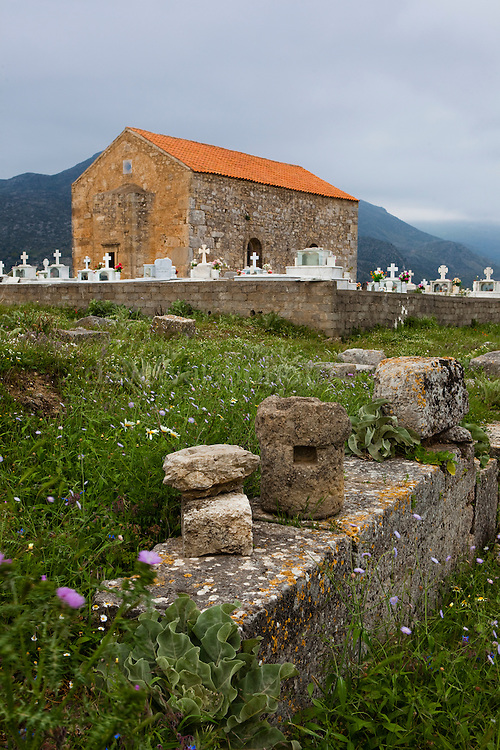"The Ancient Sanctuary of Telesterion at the ancient Hellenic city of Polyrinia, Crete. The place name means ""many sheep"" and it was the most fortified city in ancient Crete."