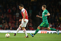 September 20, 2018 - London, England, United Kingdom - Arsenal's Sokratis Papastathopoulos in action .during UAFA Europa League Group E between Arsenal and FC Vorskla Poltava at Emirates stadium , London, England on 20 Sept 2018. (Credit Image: © Action Foto Sport/NurPhoto/ZUMA Press)