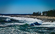 The surf at Pemaquid, Maine