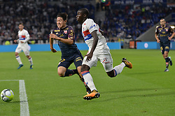 September 23, 2017 - Decines Charpieu - Groupama Sta, France - Ferland Mendy (lyon) vs Changhoon Kwon  (Credit Image: © Panoramic via ZUMA Press)