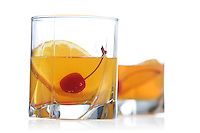 Studio shot of drinks on white background