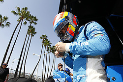 April 13, 2018 - Long Beach, California, United States of America - April 13, 2018 - Long Beach, California, USA: Ed Jones (10) sits on pit road and puts his helmet on prior to practice for the Toyota Grand Prix of Long Beach at Streets of Long Beach in Long Beach, California. (Credit Image: © Justin R. Noe Asp Inc/ASP via ZUMA Wire)